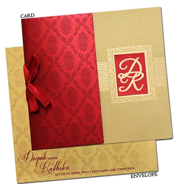 Exclusive Indian Wedding Card With Self Color Printing On Behance