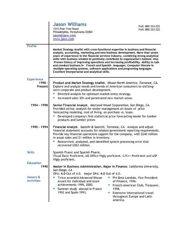 Free Sample CV Template - http\/\/wwwresumecareerinfo\/free-sample - sample of cv or resume