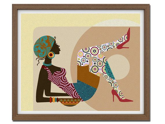 African American Wall Decor african american art, gift for wife, gift for woman, girls room