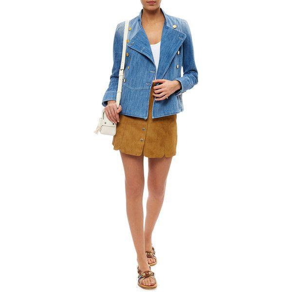 Isabel Marant étoile Blue Denim Obira Military Jacket 350