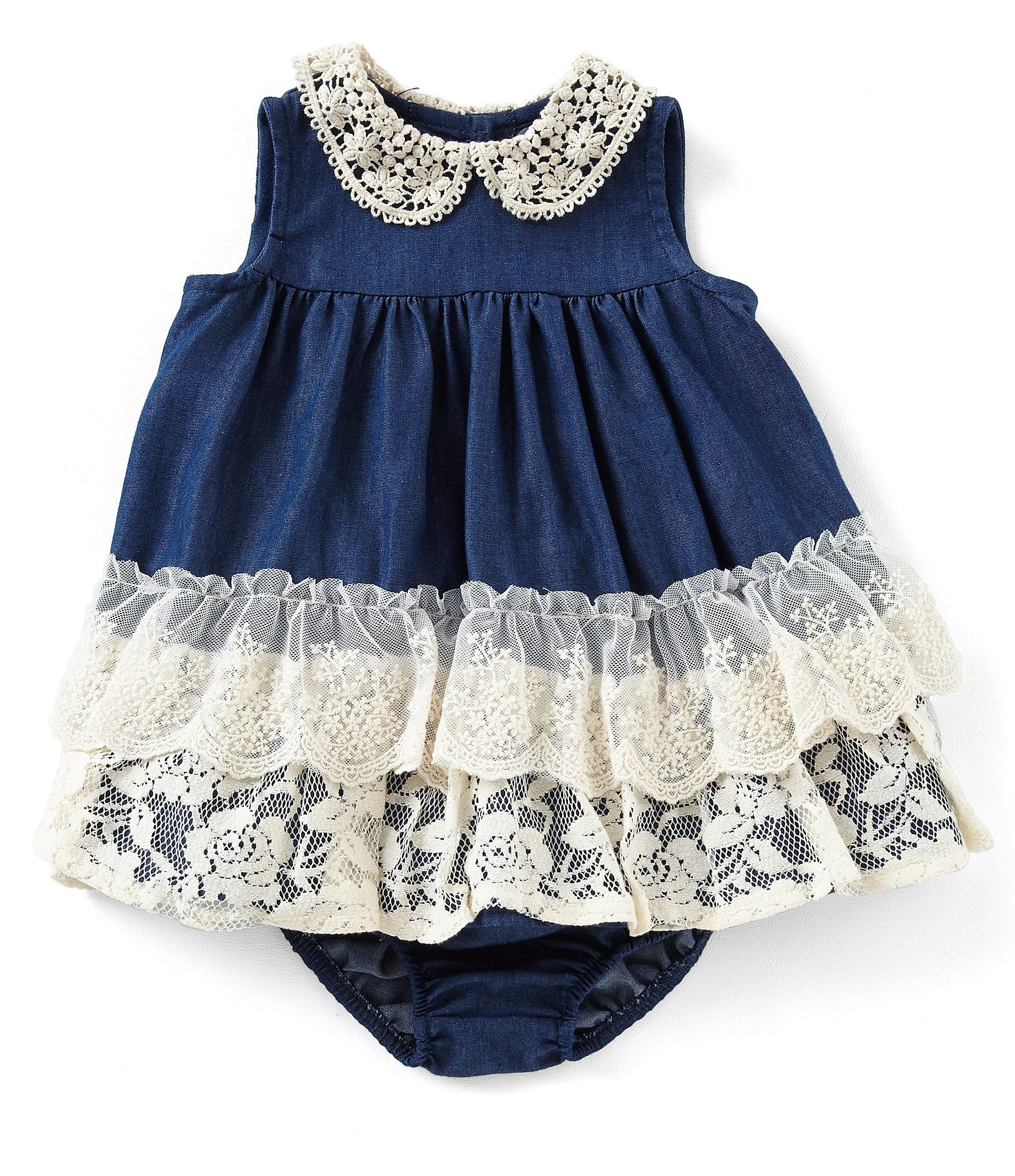 638d80d2f Shop for Bonnie Baby Baby Girls Newborn-24 Months Lace/Denim Fit-And-Flare  Dress at Dillards.com. Visit Dillards.com to find clothing, accessories,  shoes, ...