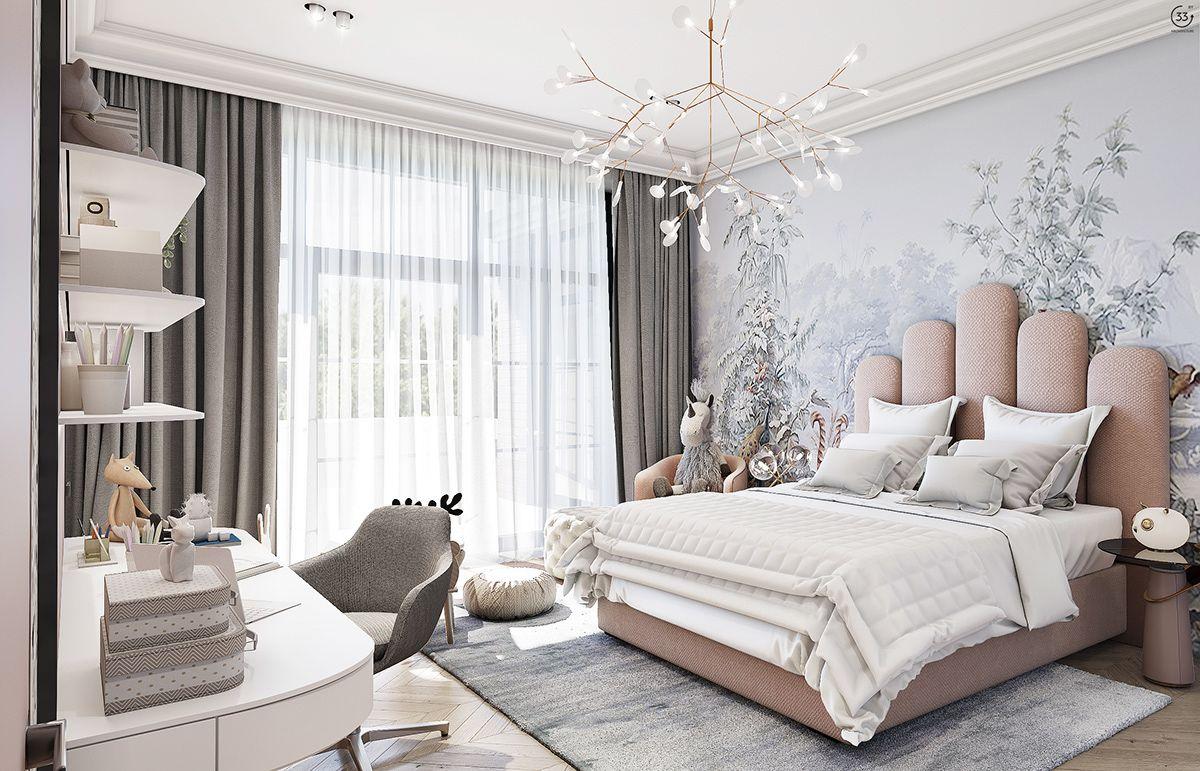Girl bedroom on Behance   Modern luxury bedroom, Luxurious ...