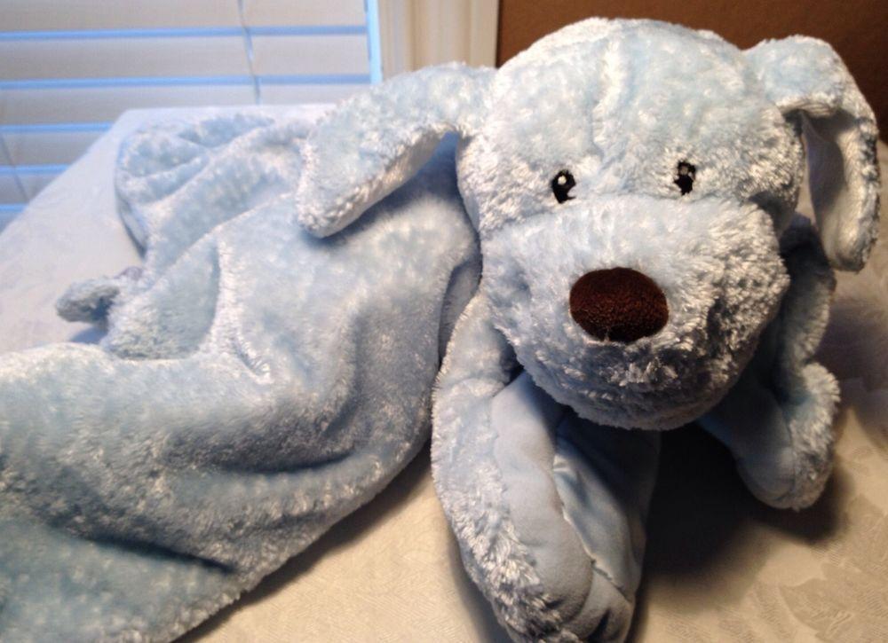 Lovey Baby Gund Blue Plush Comfy Cozy Puppy Dog Security Blanket