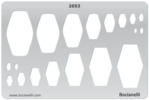 BARREL SHAPES Jewelry Making Design Template Drawing Drafting