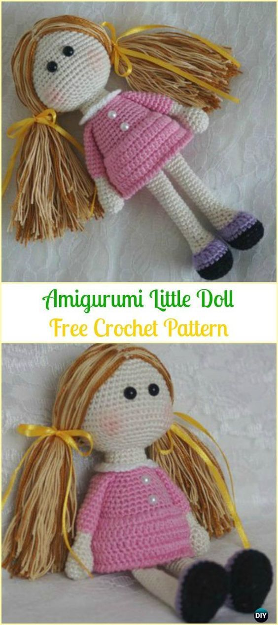 30 Amigurumi Crochet Doll Toys Free Patterns #littledolls