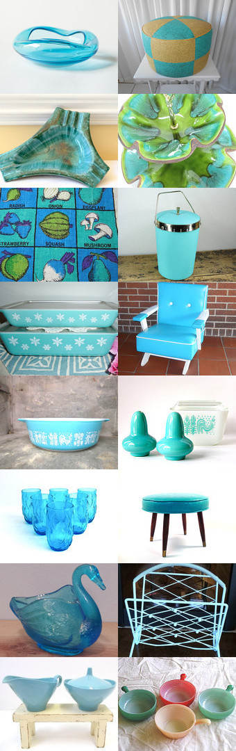 Turquoise at Home by Jude on Etsy--Pinned with TreasuryPin.com