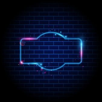 Night club neon sign on brick wall background in 2020
