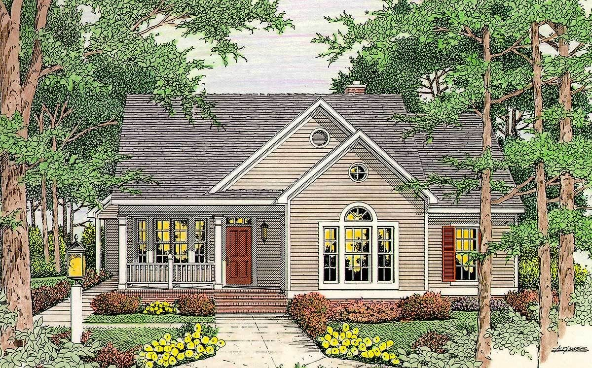 Plan 6293v Open Floor Plan Brick Exterior House Country House Plans Cottage Homes
