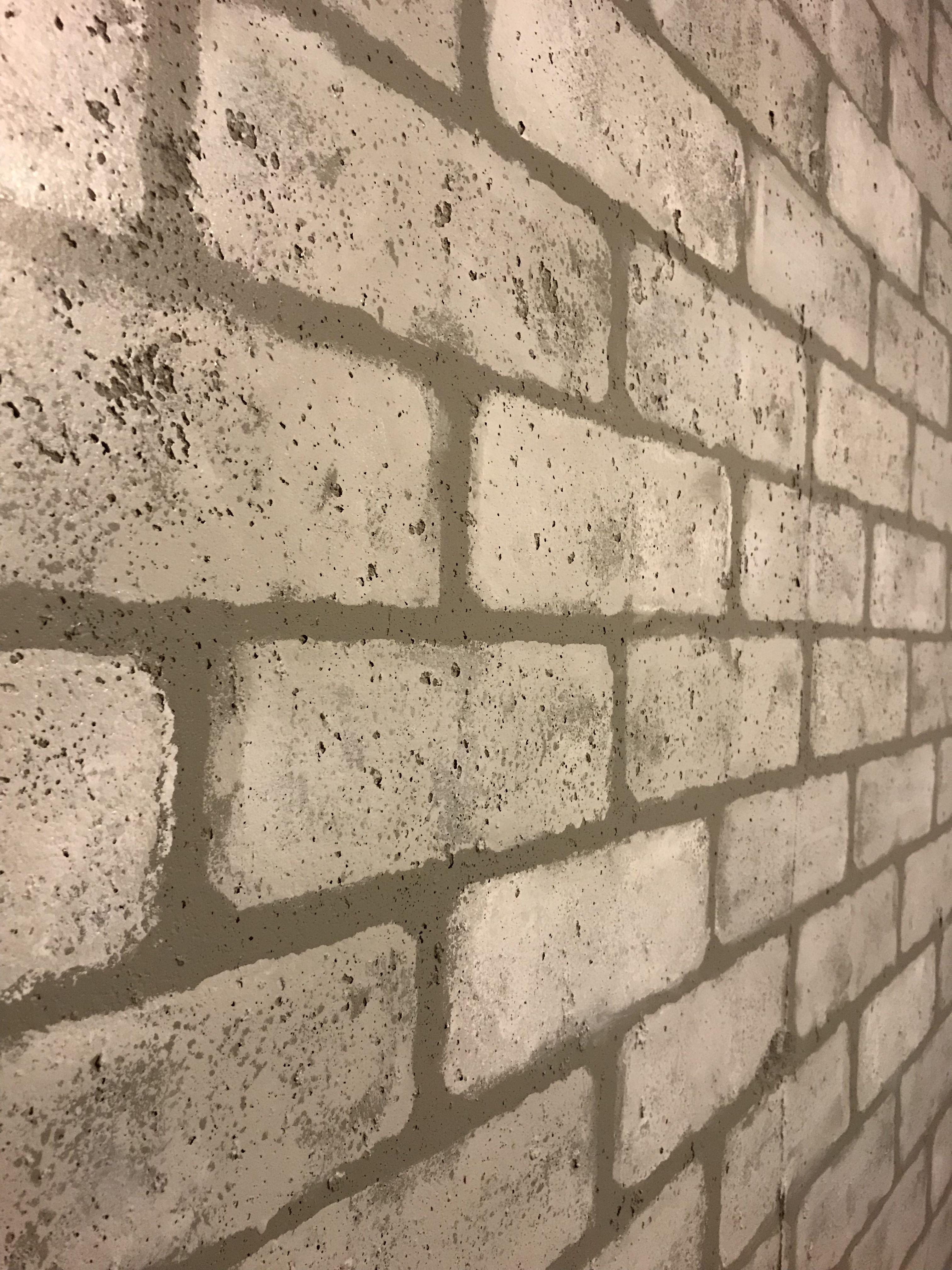 Faux Brick Sponge Stamping Faux Brick Brick Wall Decor Painted Brick Walls