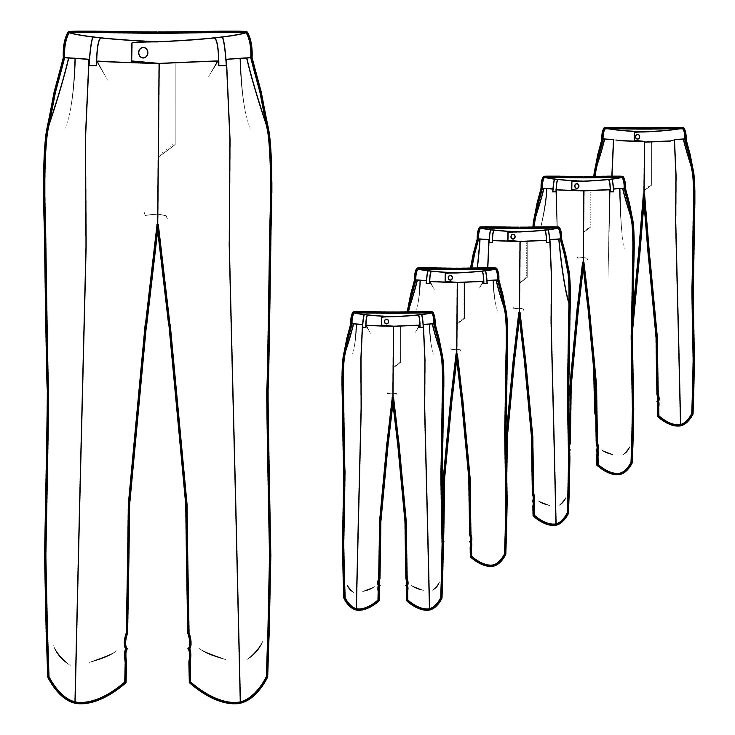 mens formal trousers technical sketch pinterest