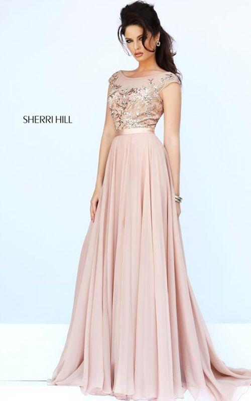 Sherri Hill 11214 Nude Evening Gown | Dresses | Pinterest | Nude ...