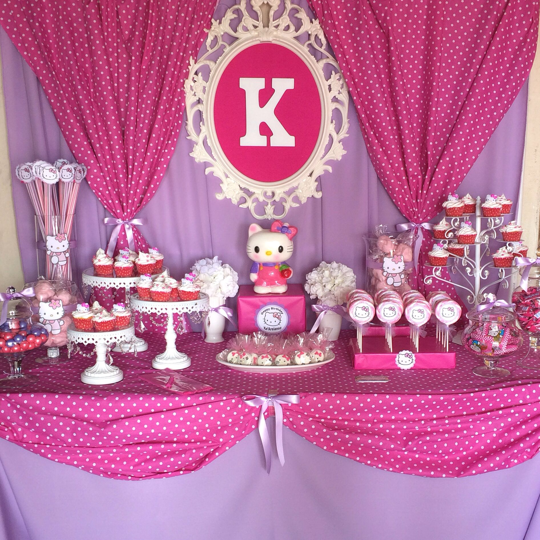 hello kitty candy buffet by bizzie bee creations by iris. Black Bedroom Furniture Sets. Home Design Ideas