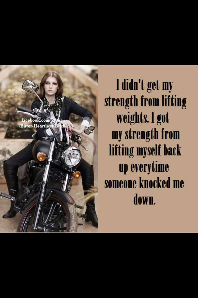 Biker Chick strenght | Iron cowgirl on Triumph | Motorcycle