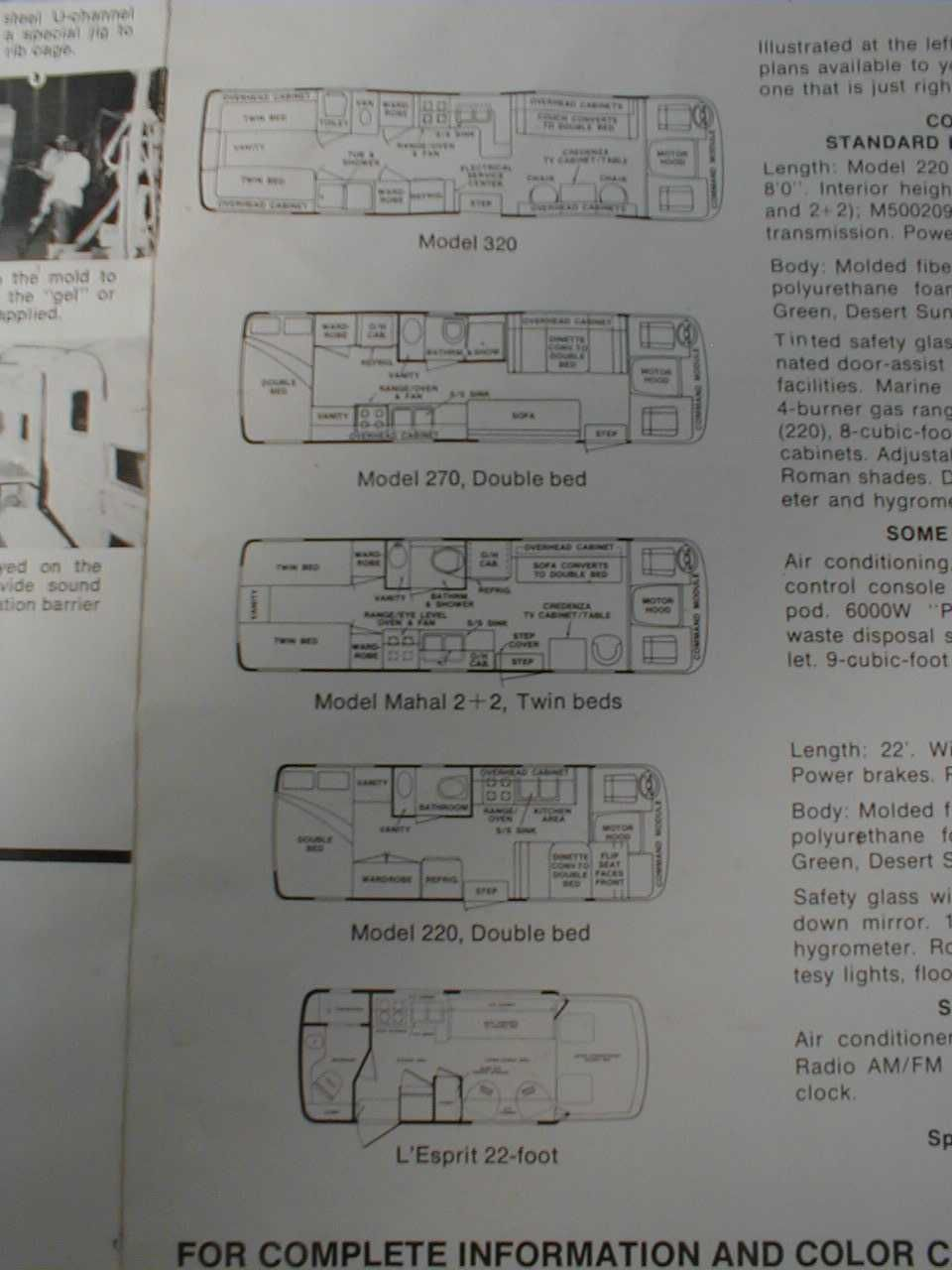 Floor plans Our RV has the Mahal 22 floor plan