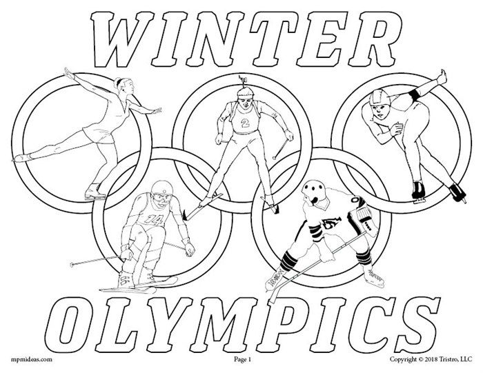 FREE Printable Winter Olympics Coloring Page Sports