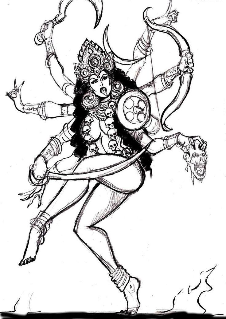 Tatuagens De Drica C Kali Deusa Gods Tattoo Kali Ma