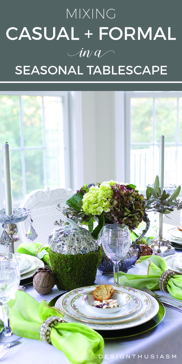 mixing casual and formal in a seasonal tablescape fall inspiration rh pinterest com