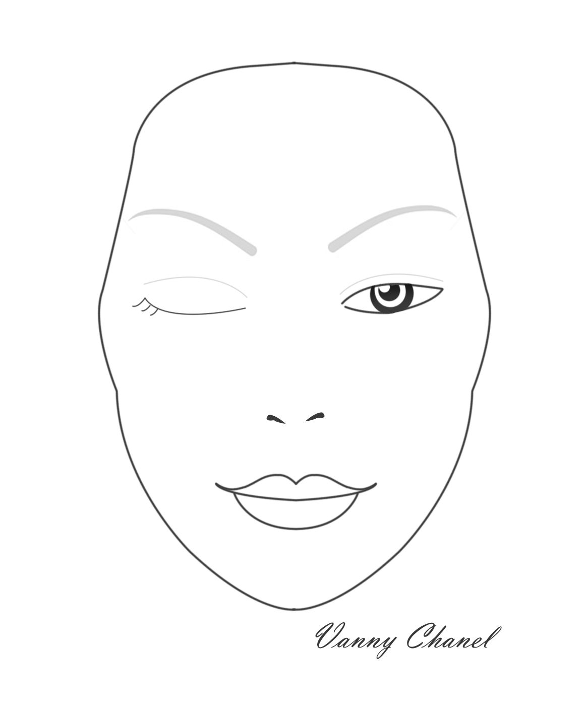 Blank Face Diagram Botox Cytokinesis Venn Mac Chart Ajilbab Com Portal