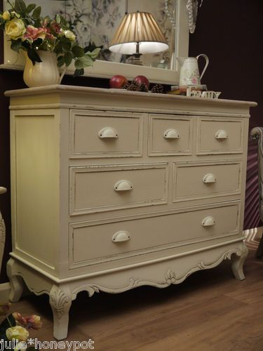 Large Shabby Chic French Country Style Chest Of Drawers Pretty