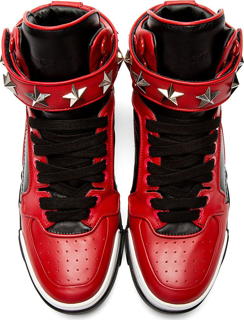 best loved 9a4ff 42366 Givenchy Black  Red Star Tyson High-Top Sneakers