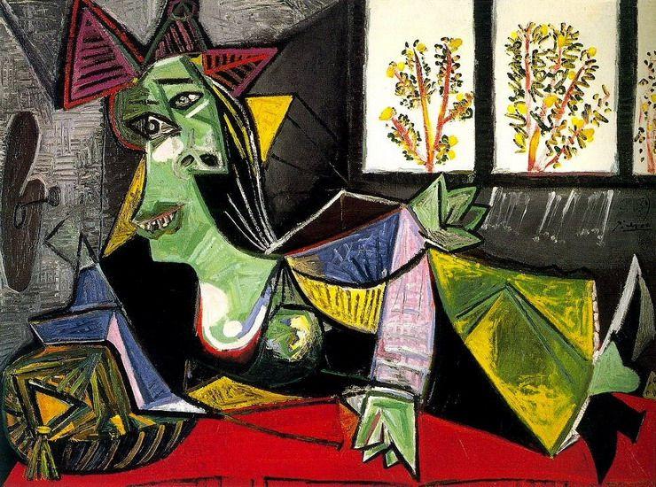Bien-aimé Pablo Picasso - Dora Maar lounging on a divan, 1939 | Picasso's  HM91