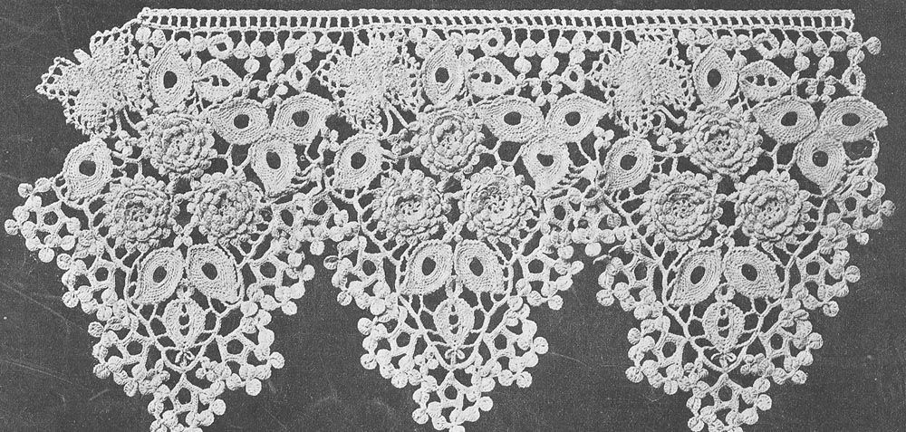 Antique 1916 6 1/2 inch Butterfly Lace Crochet Pattern PDF 1601 ...