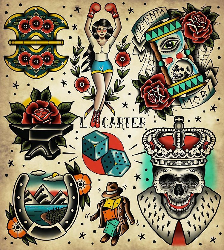 Pin By Virginie Price On Shane In 2020 Traditional Tattoo Prints Traditional Tattoo Old School Traditional Tattoo Illustration