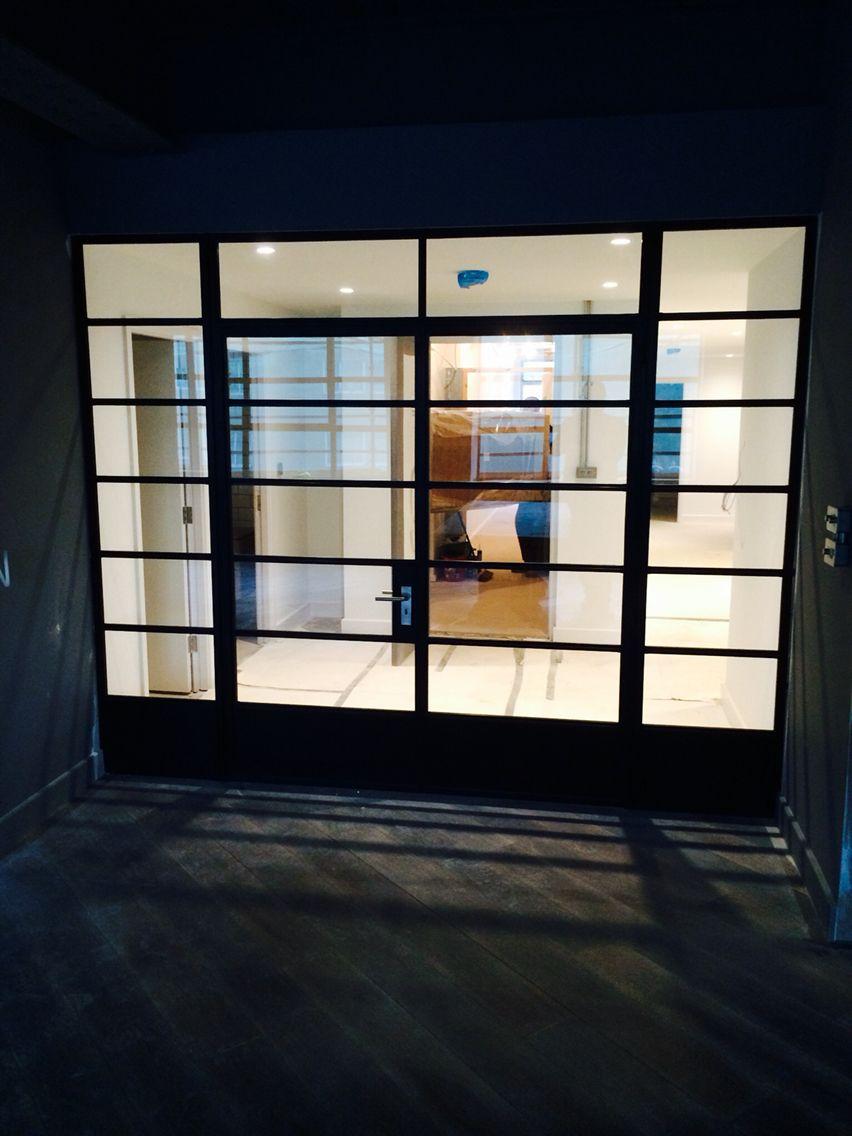 Steel doors in new apartments in Birmingham