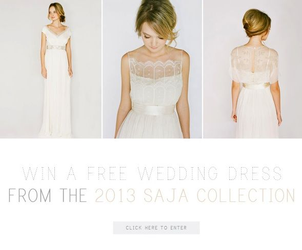 Win a wedding dress from saja once wed wedding dress wedding win a free wedding dress from saja and once wed junglespirit Gallery