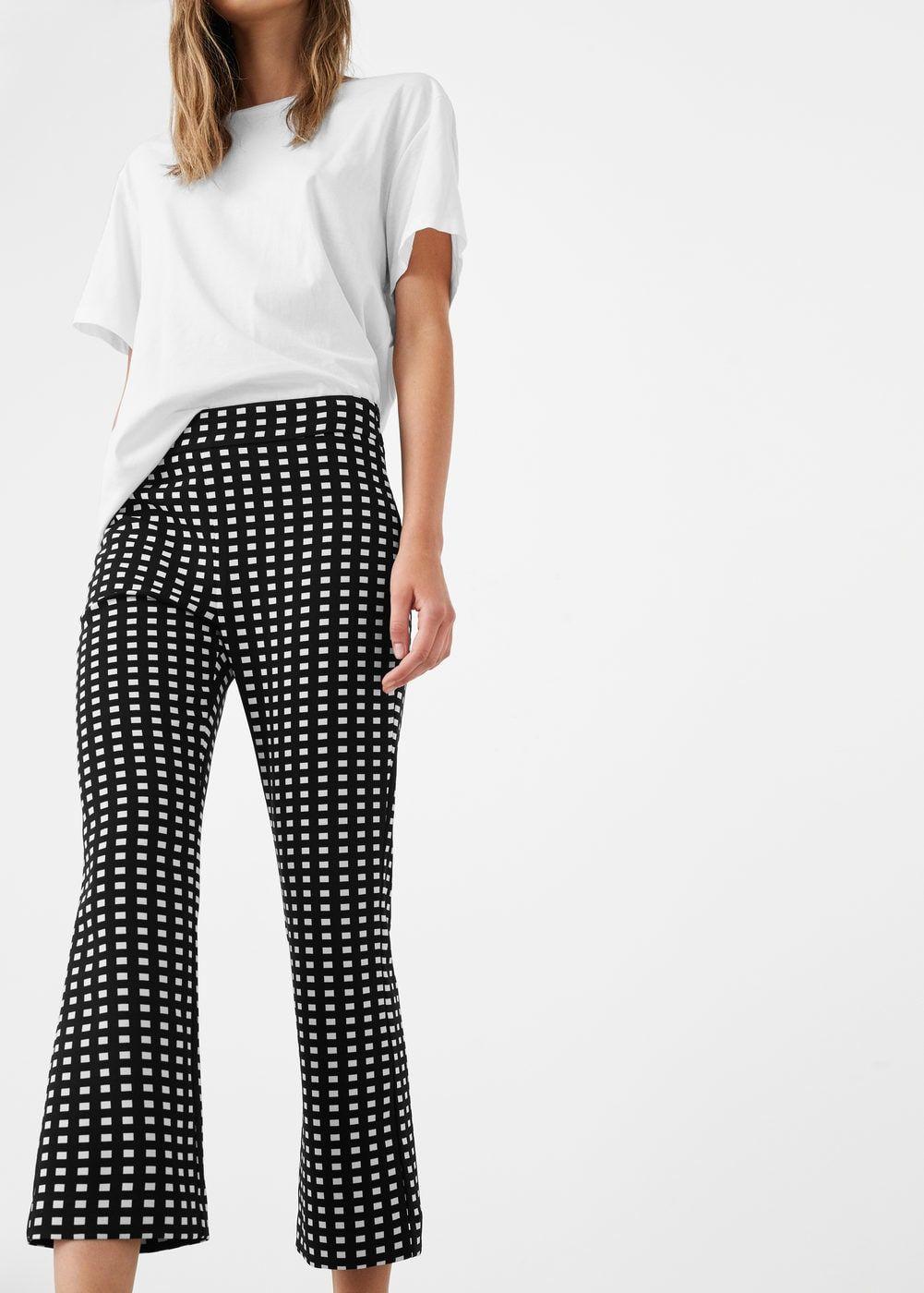 04040b35ff Pantalón cuadros cinturón - Pantalones de Mujer