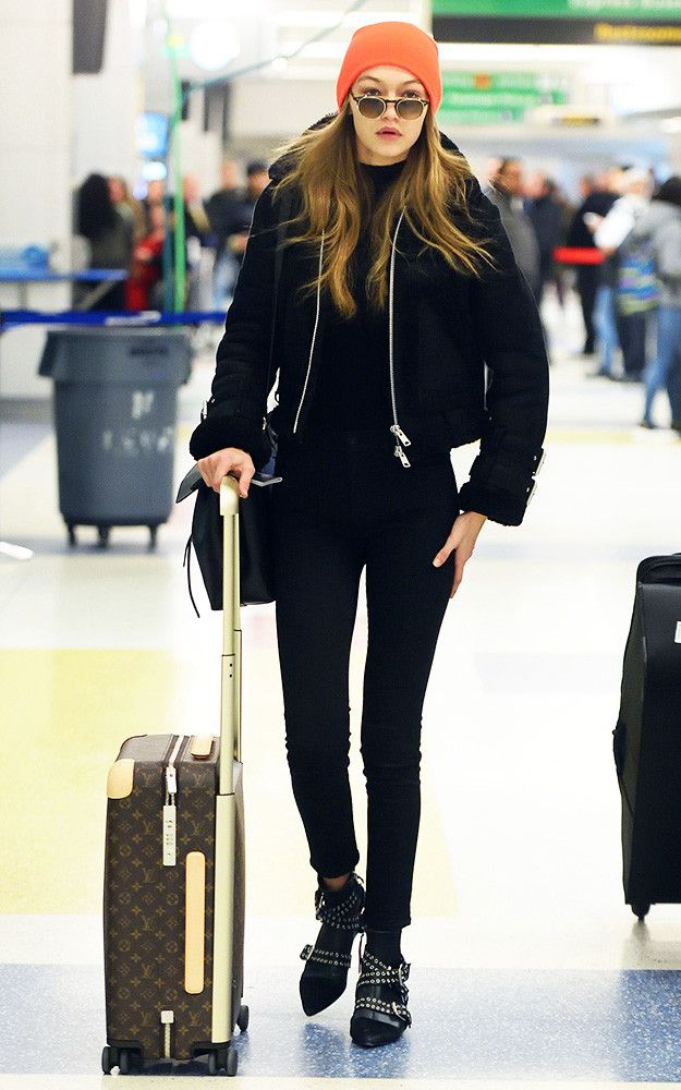 45af91428 Gigi Hadid's latest airport outfit was both cool and flattering. See how to  replicate it here.