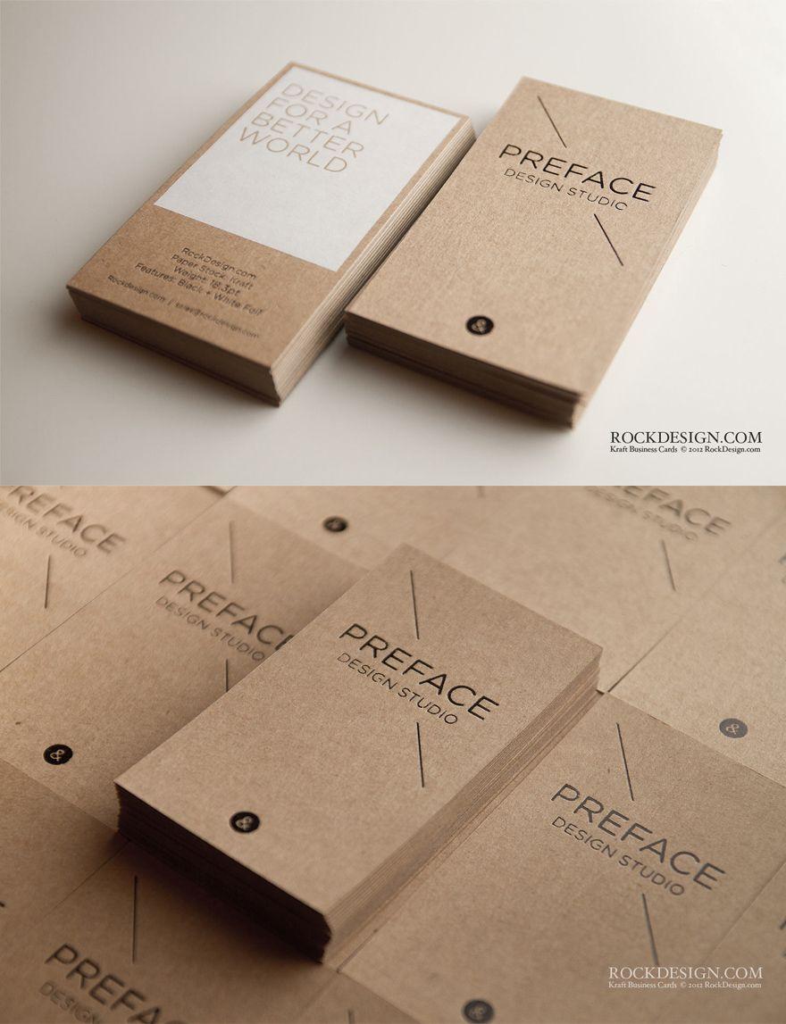 Creattica Kraft Business Cards By Rockdesign Mit Bildern