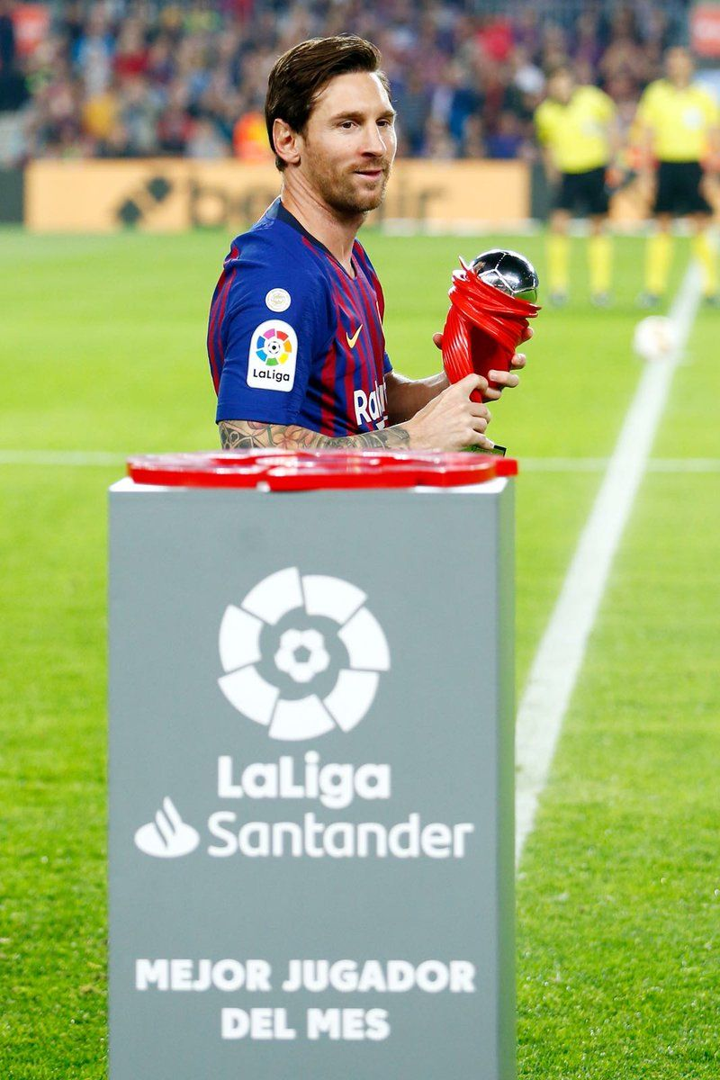 Messi Player Of The Month For September 2018 Laliga Messi