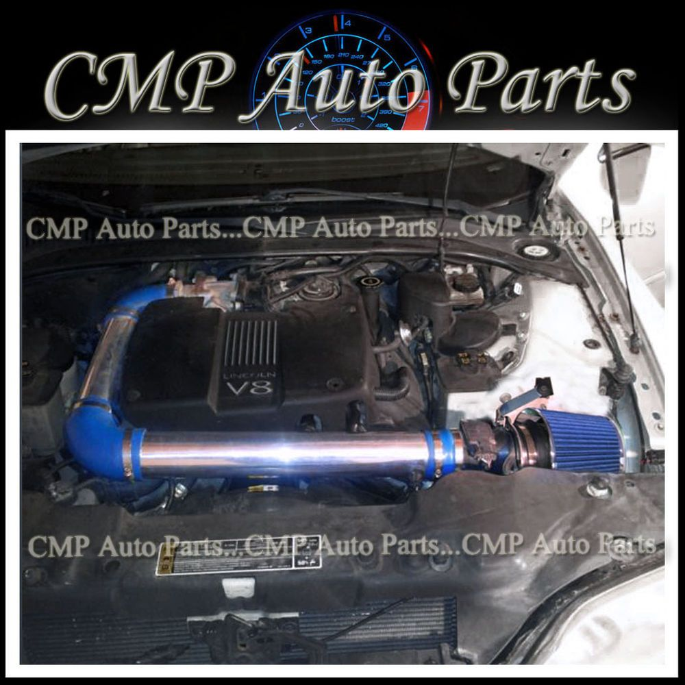 hight resolution of blue 2000 2002 lincoln ls 3 9 3 9l v8 4 door air intake kit induction systems cmp