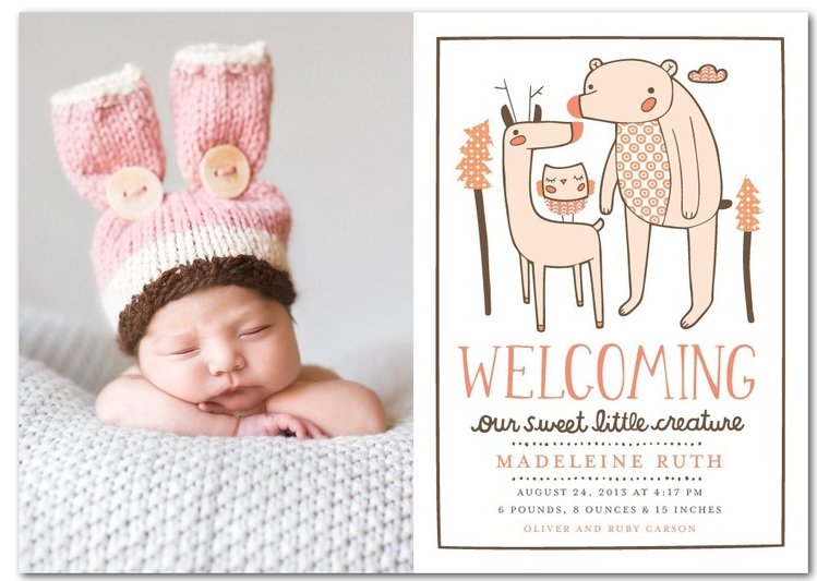 Rustic Baby Girl Birth Announcements Rustic Baby Baby Girl Birth - Girl birth announcements