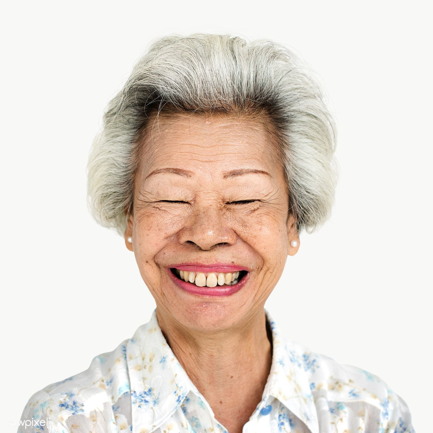 Bart Van Den Hoven download premium png of happy old woman transparent png