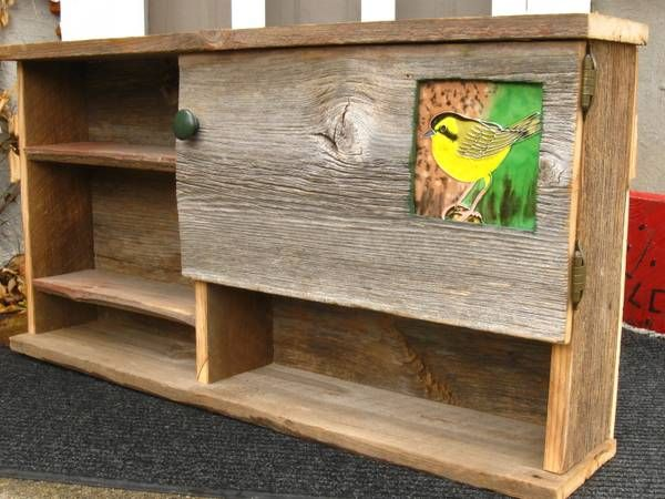 Beautiful Made To Order Rustic Barn Wood Bird Shelf, Madison WI Craigslist