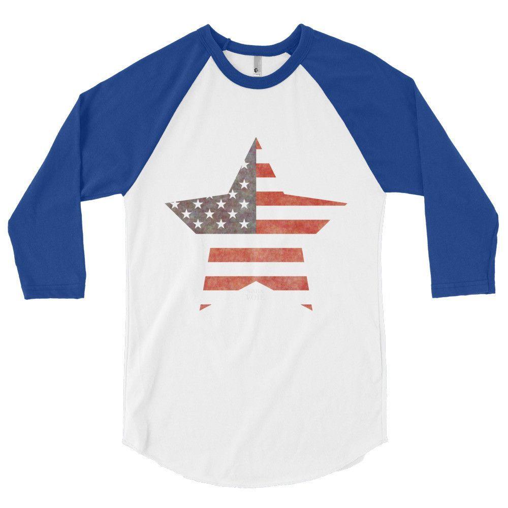American Star - ¾ Sleeve Shirt (Color)
