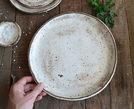Ceramic Dinner Plate - Shino Plate - Pottery Plate - Rustic Dinner Plate & PRE ORDER - Ceramic Dinner Plate - Shino Plate - Pottery Plate ...