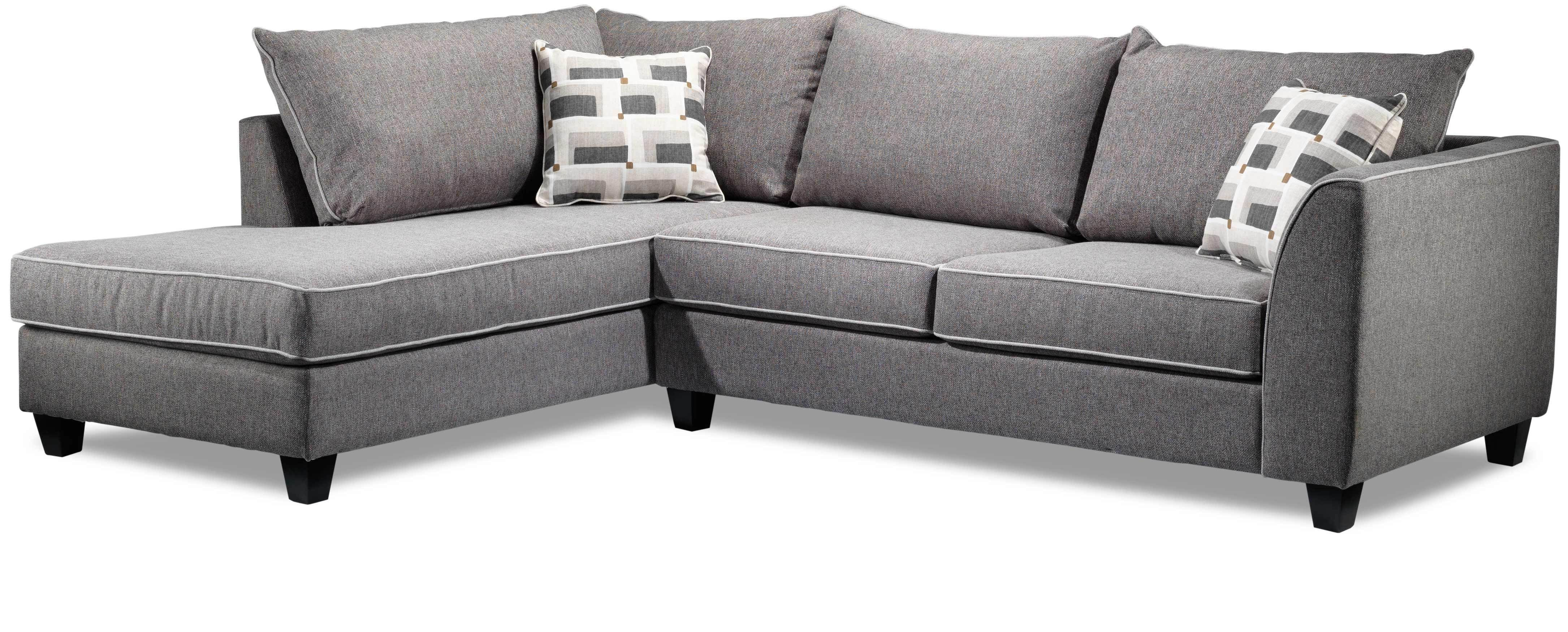 Trinity 2 Piece Sectional With Modular Chaise Graphite Sectional Sofa With Chaise Sofa Frame Left Facing Chaise
