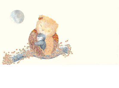 "Lisa Stewart  My daughter has this book ""Can I cuddle the Moon"" The illustrations are beautiful."