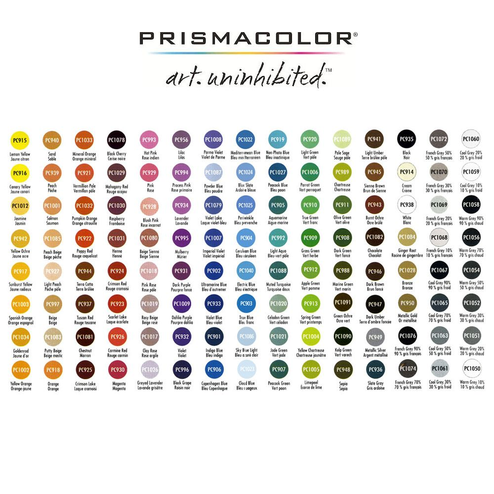Prismacolor colored pencils these pencils are wax based and