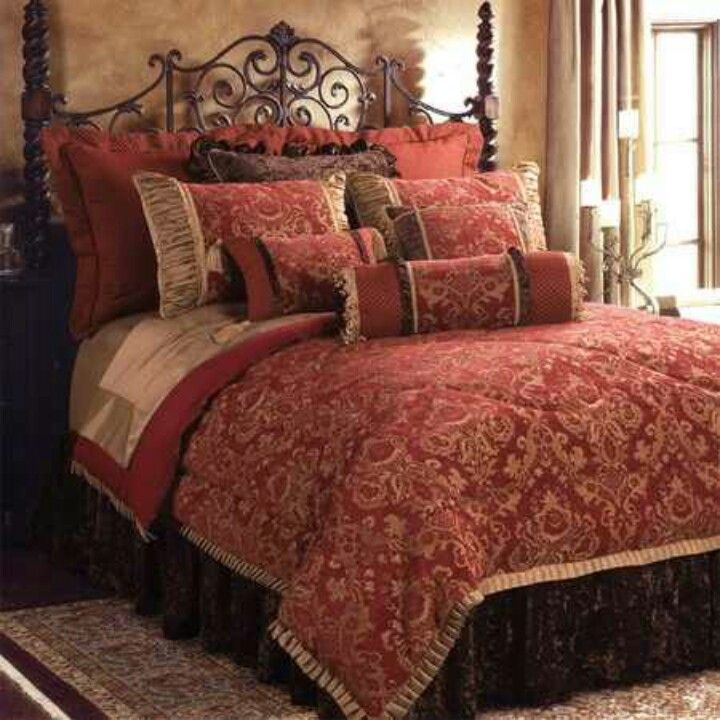 Warm And Rich Love This Bedding For Our Master Bedroom