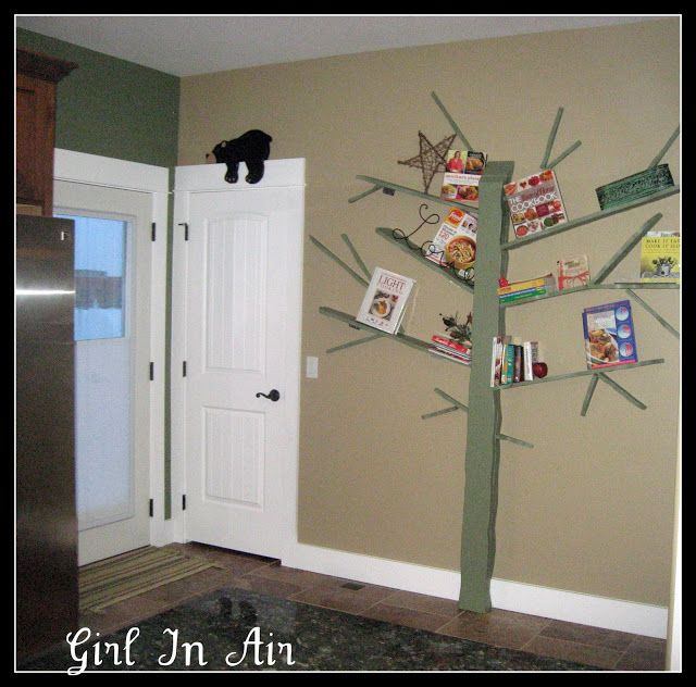 Make a Tree Bookshelf! DIY! An absolute MUST HAVE for my bookworm daughter's Owl themed bedroom!