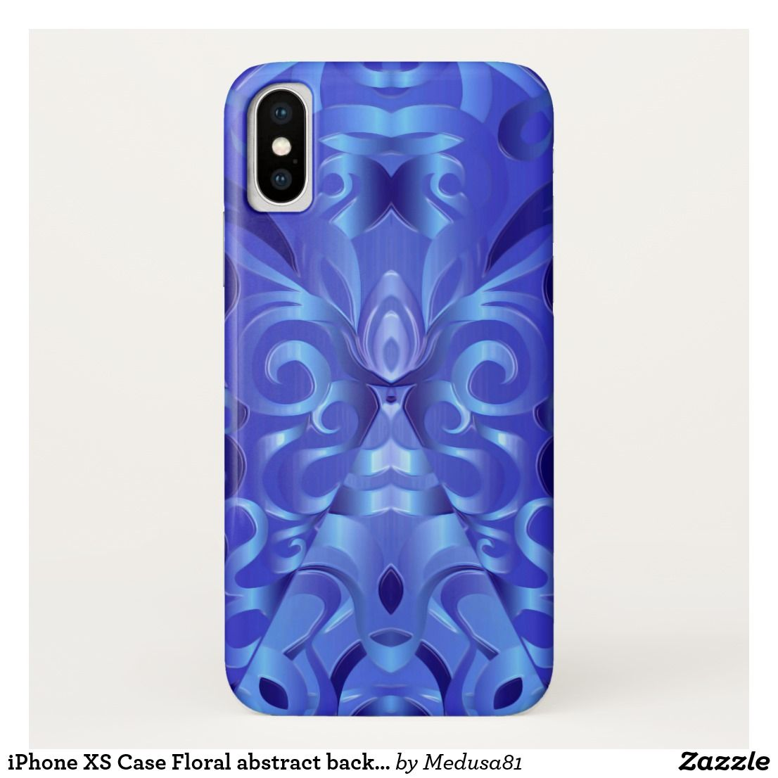 IPhone XS Case Floral Abstract Background