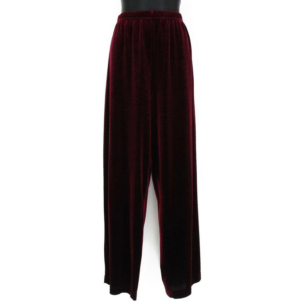 ac3eb74802e981 Coldwater Creek XL Velvet Pants Womens Plus Size Wide Leg Lounge Elastic  Waist #ColdwaterCreek #Wide #Casual