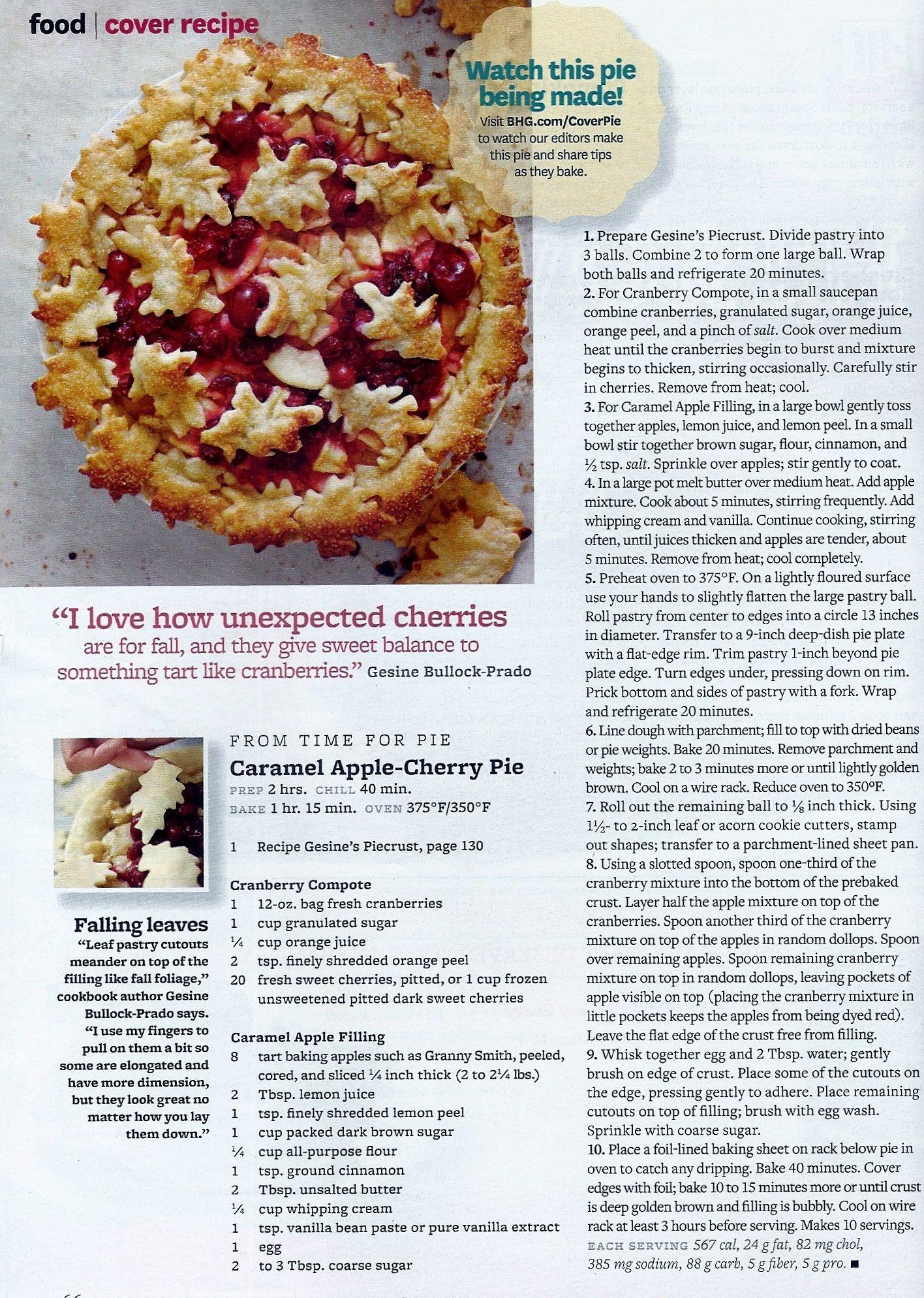 Caramel Apple-Cherry Pie