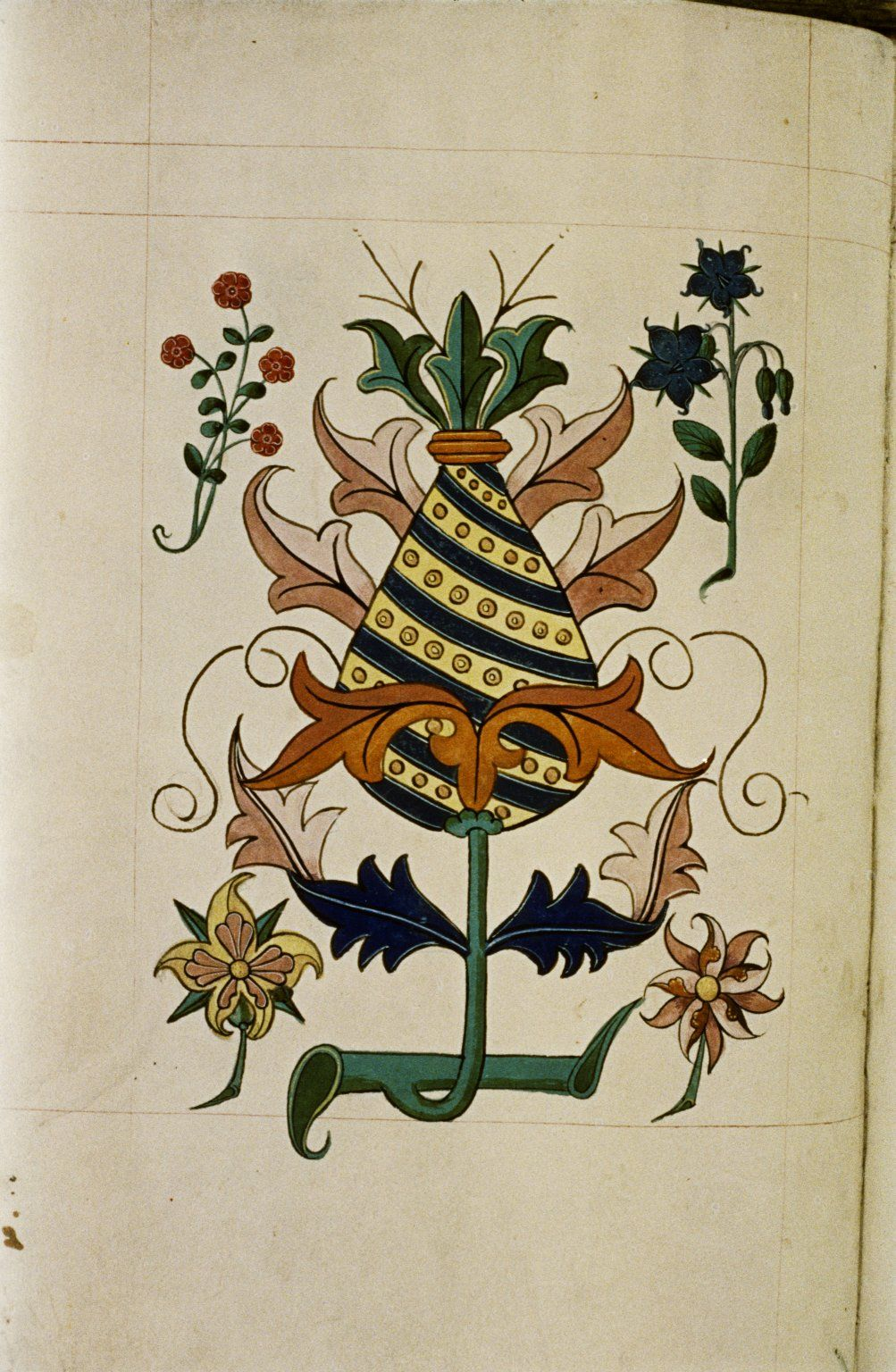 Tudor pattern book 1520 retronaut love this 16th c pimpernel blue flower in a stylised design from the tudor pattern book ashmole manuscript fol bankloansurffo Image collections