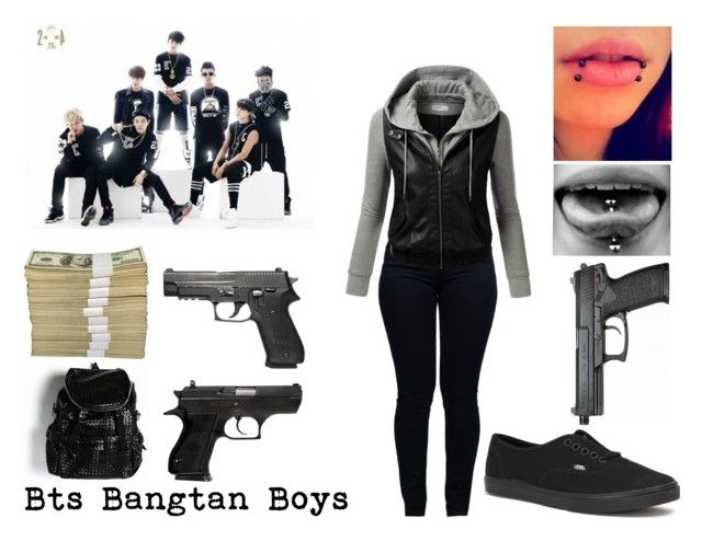 """""""Bts Bangtan Boys"""" by jessy-693 ❤ liked on Polyvore featuring Armani Jeans, J.TOMSON and Vans"""