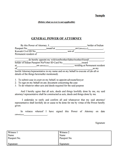 Printable General Power Of Attorney Form Ten Signs You Re In Love With Printable General Pow In 2020 Power Of Attorney Form Power Of Attorney Signs Youre In Love